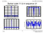 barker code 11 m sequence 31