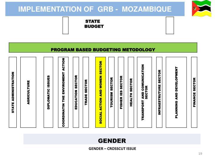 IMPLEMENTATION OF  GRB -  MOZAMBIQUE