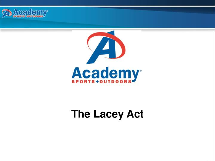 the lacey act