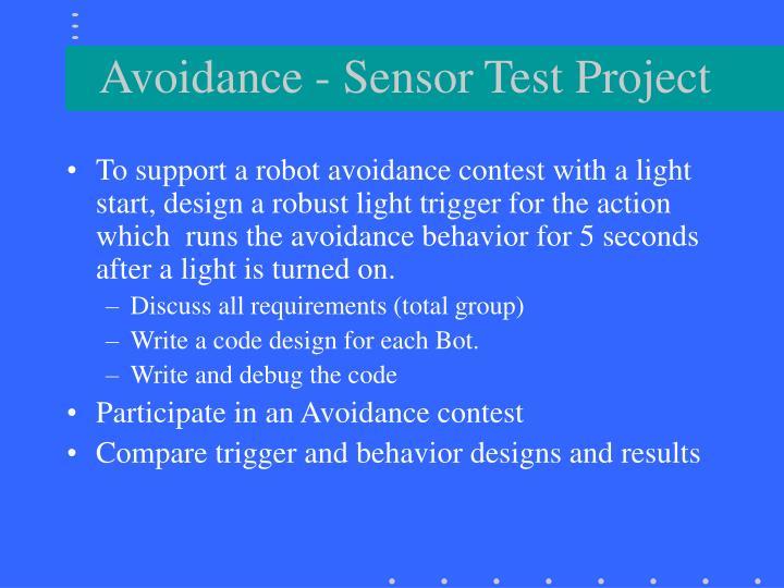 Avoidance - Sensor Test Project