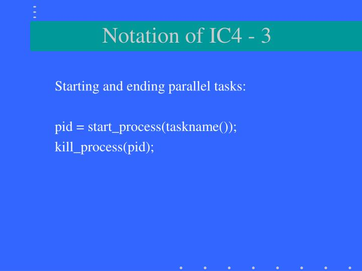 Notation of IC4 - 3