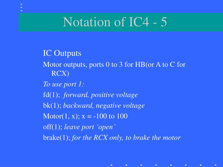 IC Outputs