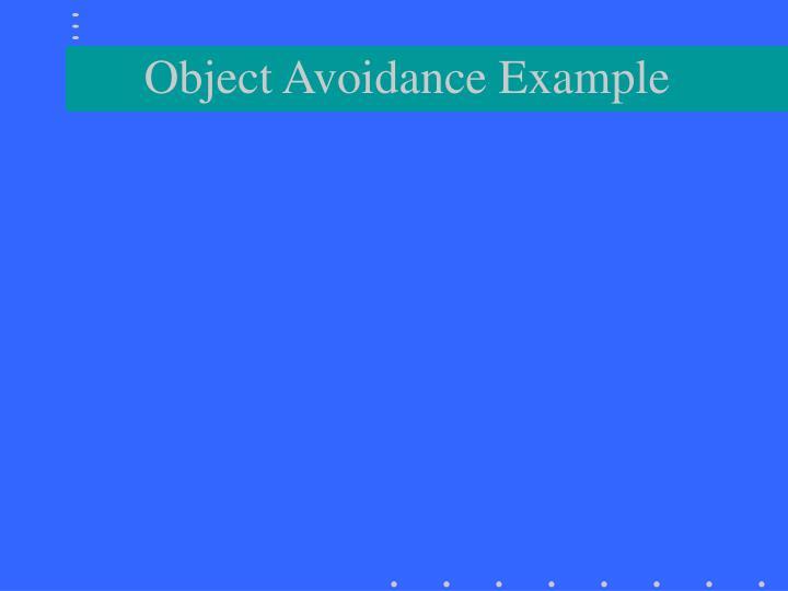 Object Avoidance Example