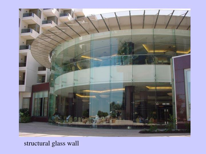 structural glass wall