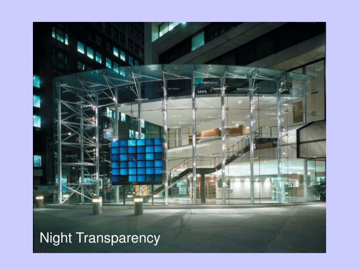 Night Transparency