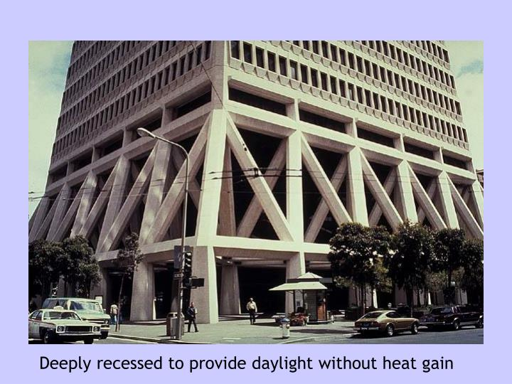 Deeply recessed to provide daylight without heat gain