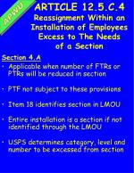 article 12 5 c 4 reassignment within an installation of employees excess to the needs of a section