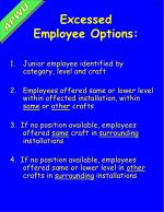 excessed employee options