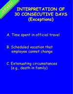 interpretation of 30 consecutive days exceptions