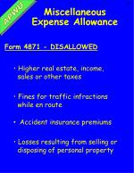 miscellaneous expense allowance1