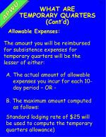 what are temporary quarters cont d1
