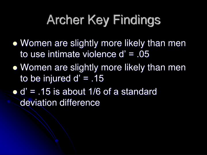 Archer Key Findings