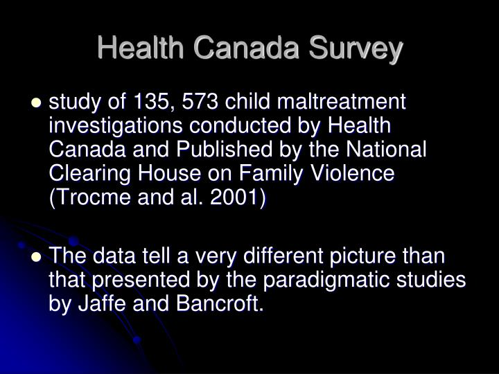 Health Canada Survey