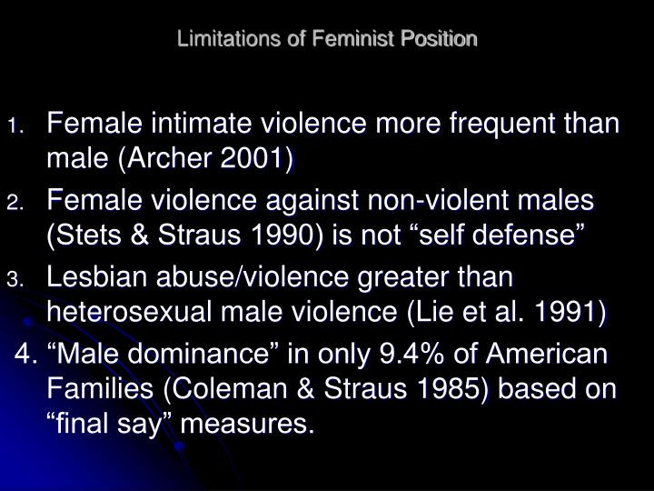 Limitations of Feminist Position