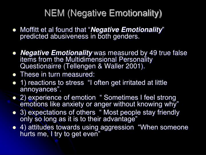 NEM (Negative Emotionality)