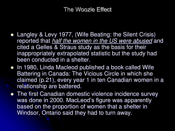 The woozle effect