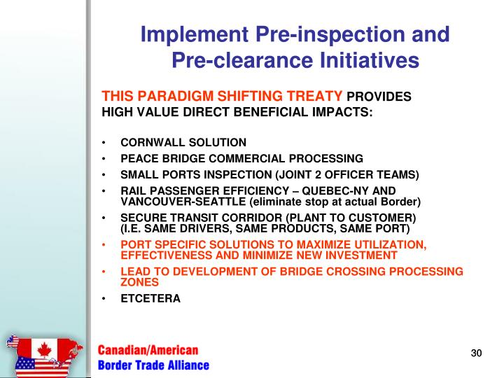 Implement Pre-inspection and