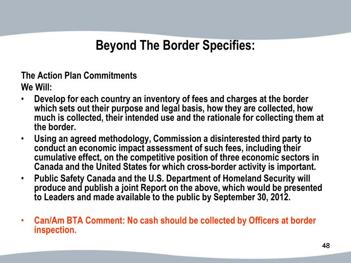 Beyond The Border Specifies: