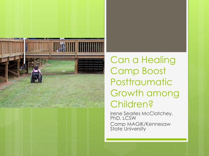 Can a healing camp boost posttraumatic growth among children