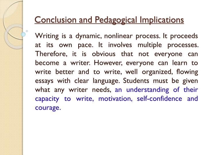 Conclusion and Pedagogical Implications