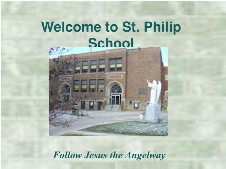 welcome to st philip school n.