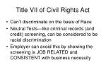 title vii of civil rights act
