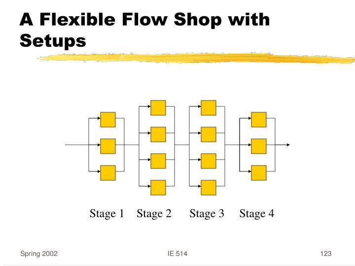 A Flexible Flow Shop with Setups