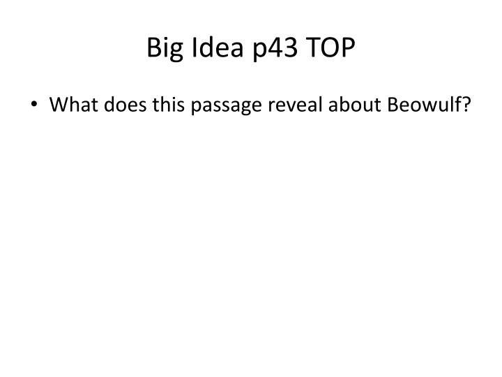 Big Idea p43 TOP
