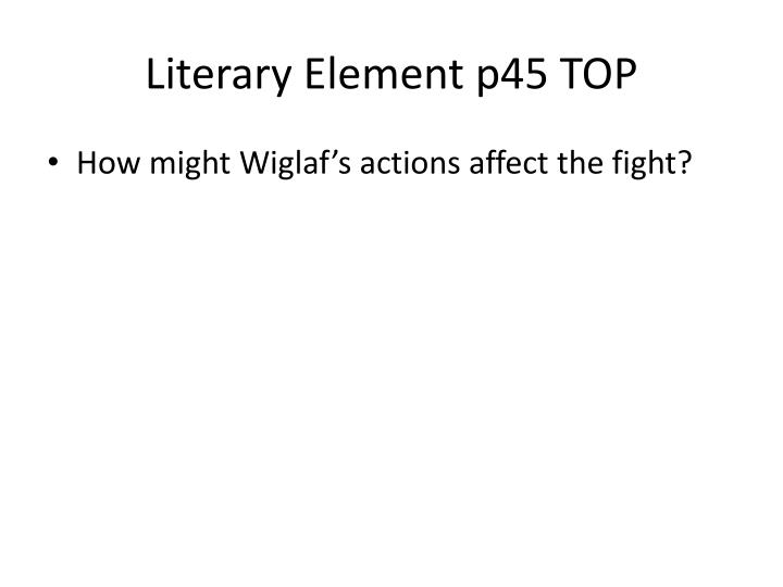 Literary Element p45 TOP