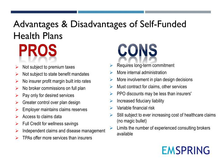 Advantages & Disadvantages of Self-Funded Health Plans