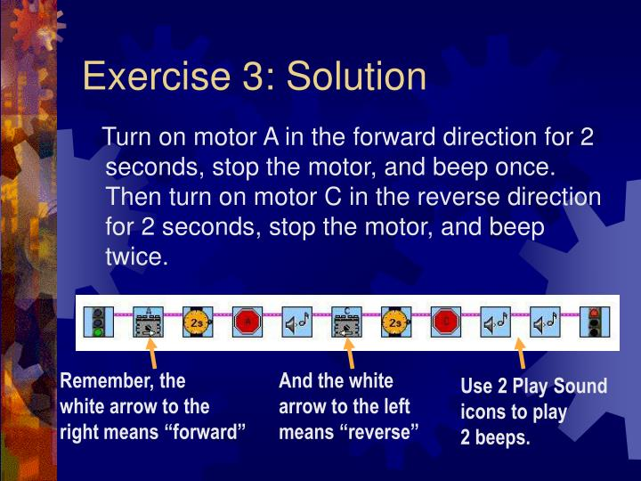 Exercise 3: Solution