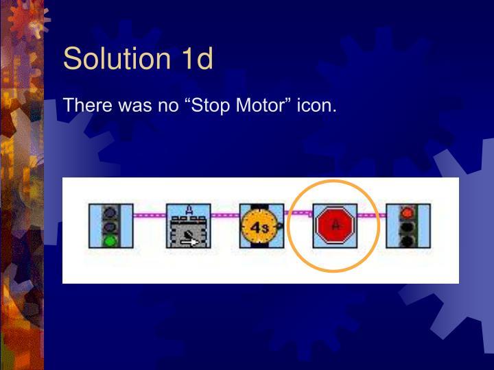 Solution 1d
