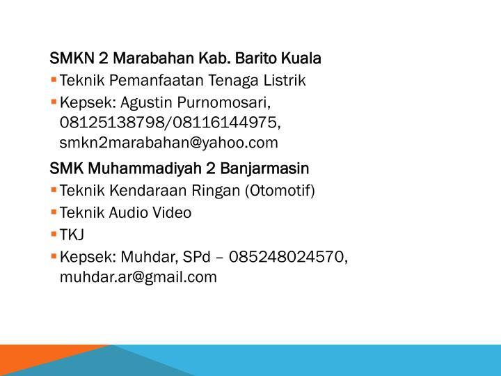 SMKN 2 Marabahan Kab. Barito Kuala