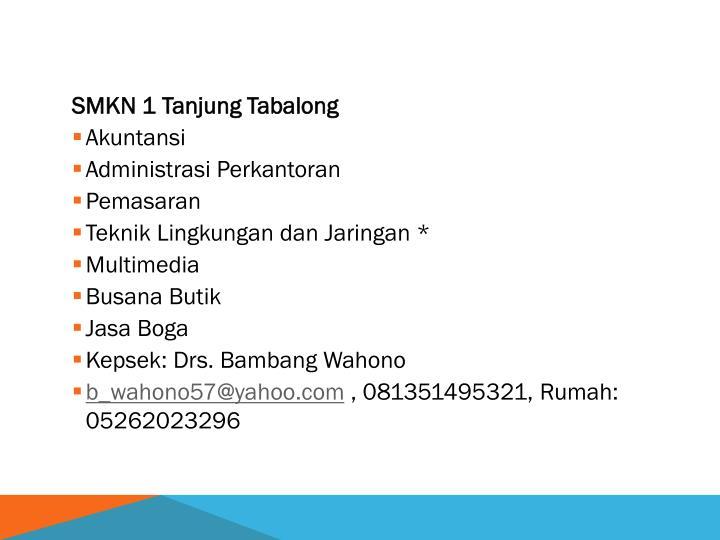 SMKN 1 Tanjung Tabalong