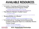 available resources2