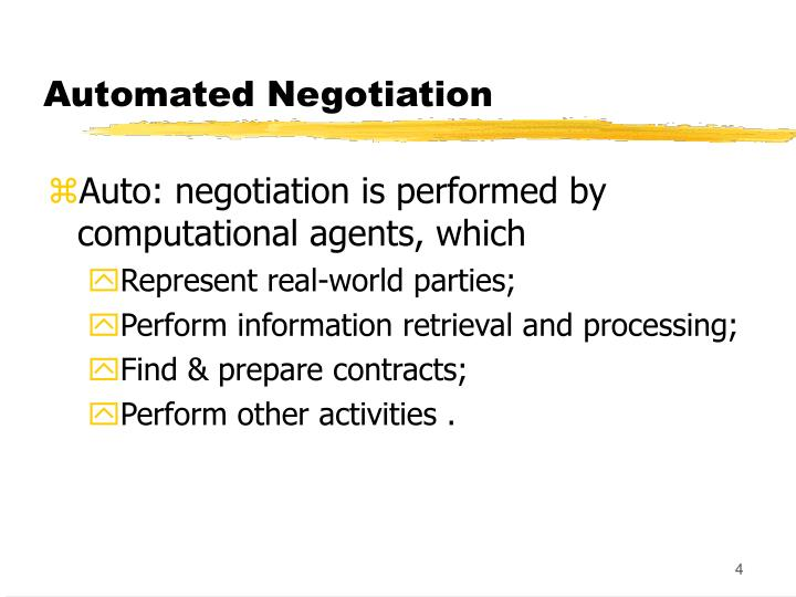 Automated Negotiation