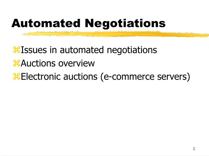 Automated negotiations1