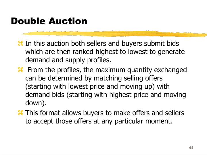 Double Auction