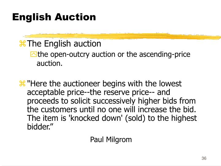 English Auction