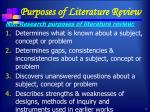 purposes of literature review1