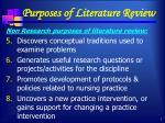 purposes of literature review2
