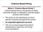 criterion based hiring1