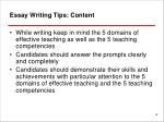 essay writing tips content