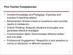 five teacher competencies