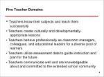 five teacher domains