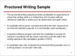 proctored writing sample