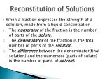 reconstitution of solutions1