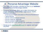 4 personal advantage website