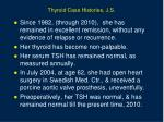 thyroid case histories j s2
