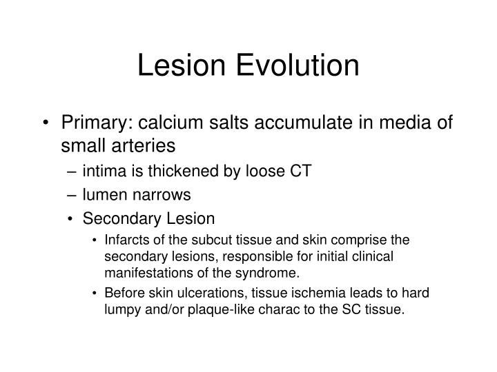Lesion Evolution